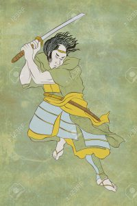 9967026-illustration-of-a-samurai-warrior-with-katana-sword-in-fighting-stance-done-in-cartoon-style-on-isol-stock-illustration